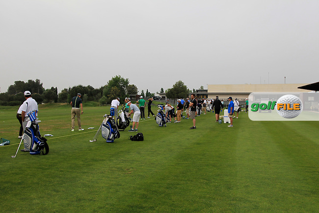 The driving range before start of play during Round 1 of the Open de Espana  in Club de Golf el Prat, Barcelona on Thursday 14th May 2015.<br /> Picture:  Thos Caffrey / www.golffile.ie