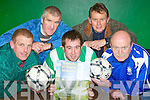 Launching Friends of Doyler testimonial match's in Killarney Celtic's clubhouse on Wednesday night was l-r: Karl McMahon Killarney Celtic, Ger Morris, James Hurley, Sean Cronin and Tom Tobin..