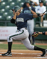 New Orleans Zephyrs Ben Johnson during the 2007 Pacific Coast League Season. Photo by Andrew Woolley/ Four Seam Images.