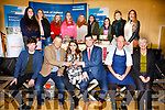 The Bake Off finalists from Pobalscoil Inbhear Scéine Kenmare pictured at the Bank of Ireland Enterprise Town Event on Friday were front l-r; Padraic Randels(Judge & 2017 Apprentice Chef of the Year), Celebrity Chef Derry Clarke(Judge), Eimear Palmer(Winner), Conor Brosnan(Manager BofI Kenmare), Supervalu Chef Philip Brazil(Judge), Sinead Ní Néill(Home Economics Teacher), back l-r; Mary Foley(3rd place), Tamara Arsenic), Sadie Knightly, Nora Murphy, Chiara Rayner, Chloe Casey, Katie McCarthy, Rachel Whelton(2nd place) & Katia Cimpoles.