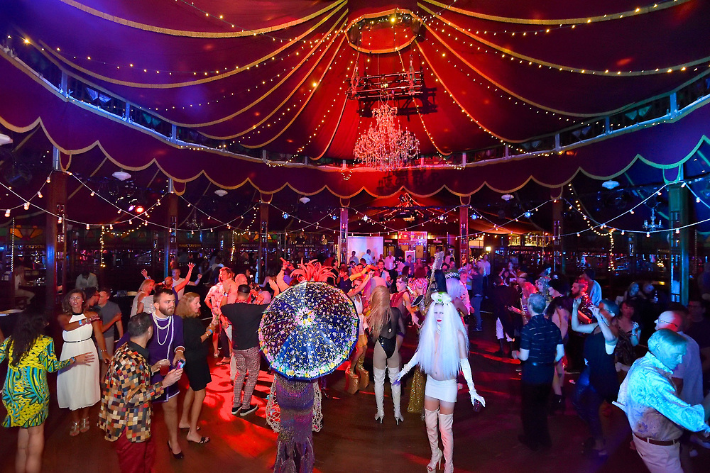 Bard College Summerscape party at Spiegeltent hosted by nightclub impresario Susanne Bartsch.