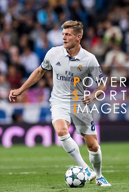 Toni Kroos of Real Madrid in action during their 2016-17 UEFA Champions League match between Real Madrid vs Sporting Portugal at the Santiago Bernabeu Stadium on 14 September 2016 in Madrid, Spain. Photo by Diego Gonzalez Souto / Power Sport Images