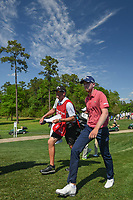 Daniel Berger (USA) approaches the 3rd tee during round 1 of the Houston Open, Golf Club of Houston, Houston, Texas. 3/29/2018.<br /> Picture: Golffile | Ken Murray<br /> <br /> <br /> All photo usage must carry mandatory copyright credit (© Golffile | Ken Murray)