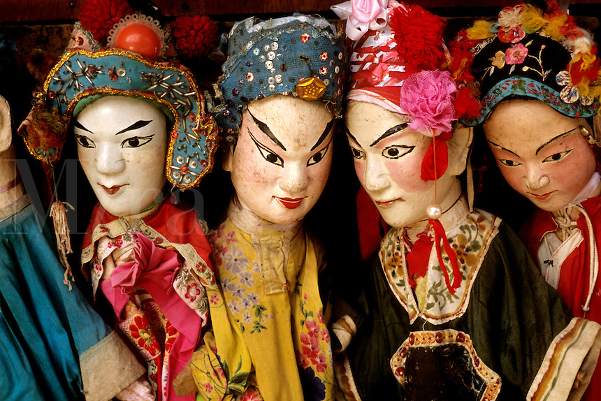 Colorful puppets in Shanghai China.