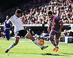 Valencia CF's Antonio Barragan  and Rayo Vallecano's Pablo Hernandez during La Liga match. January 17, 2016. (ALTERPHOTOS/Javier Comos)