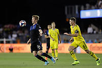 SAN JOSE, CA - AUGUST 03: Jackson Yueill  during a Major League Soccer (MLS) match between the San Jose Earthquakes and the Columbus Crew on August 03, 2019 at Avaya Stadium in San Jose, California.