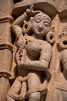 Detail an Jain-Tempel in Ranakpur, Rajasthan, Indien