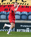 Raith's Greig Spence celebrates after he scores Rovers' goal ...