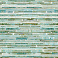 Random Stalks, a hanc-cut jewel glass mosaic, shown in Aquamarine.
