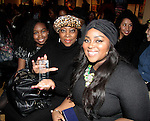 Color of Beauty Awards - Ashunta Sheriff (celebrity Makeup artist) who was honored and poses with her daughter and mother on February 28, 2015 with red carpet, awards and cocktail reception at Ana Tzarev Gallery, New York City, New York.  (Photo by Sue Coflin/Max Photos)