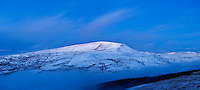Fan Fawr with winter snow, Brecon Beacons national park, Wales