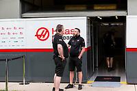 13th March 2020; Melbourne Grand Prix Circuit, Melbourne, Victoria, Australia; Formula One, Australian Grand Prix, Practice Day; Haas garage