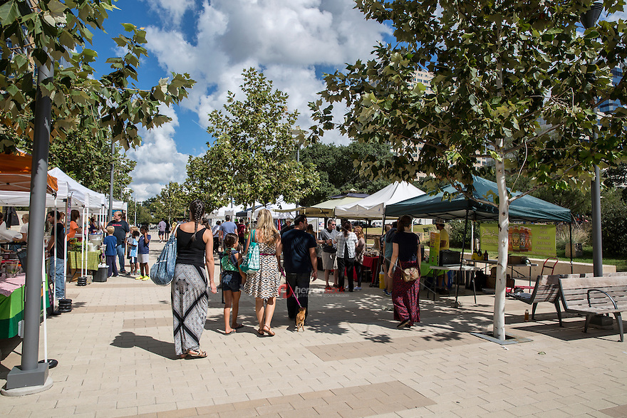Republic Square in downtown Austin is home to a large farmer's market operating every Saturday with an array of vendors, live music & activities.