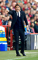 Chelsea manager Antonio Conte  <br /> <br /> Bournemouth 1 - Chelsea 3<br /> <br /> Photographer David Horton/CameraSport<br /> <br /> The Premier League - Bournemouth v Chelsea - Saturday 8th April 2017 - Vitality Stadium - Bournemouth<br /> <br /> World Copyright &copy; 2017 CameraSport. All rights reserved. 43 Linden Ave. Countesthorpe. Leicester. England. LE8 5PG - Tel: +44 (0) 116 277 4147 - admin@camerasport.com - www.camerasport.com