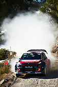 6th October 2017, Costa Daurada, Salou, Spain; FIA World Rally Championship, RallyRACC Catalunya, Spanish Rally; Kris Meeke of Great Britain and his co-driver Paul Nagle of Ireland compete in their Citroen C3 WRC Total Abu Dhabi WRT during the Terra Alta stage