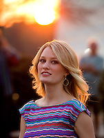 Aug. 29, 2013; Avon, IN, USA: Movie actress Ashley Hinshaw following the premiere of Snake & Mongoo$e at the Regal Shiloh Crossing Stadium 18. Mandatory Credit: Mark J. Rebilas-