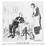 "An Echo of Rat Week. Professor. ""I understand, Mary, that the present week is dedicated to the extermination of rats. Kindly inform the cat."""