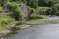 France, Bretagne, (29), Finistère,  Pont-Croix:  Les bords du Goyen