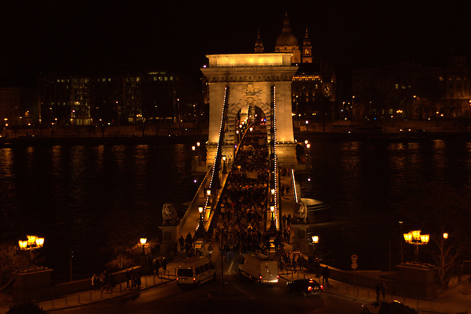 Am 11.03.2013 Demonstration in Budapest gegen die Verfassungsänderungen