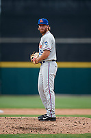 St. Lucie Mets relief pitcher Cameron Griffin (39) gets ready to deliver a pitch during the first game of a doubleheader against the Lakeland Flying Tigers on June 10, 2017 at Joker Marchant Stadium in Lakeland, Florida.  Lakeland defeated St. Lucie 6-5 in fourteen innings.  (Mike Janes/Four Seam Images)