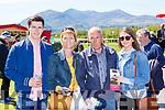 Sam, Liz, Tony and Leanne Tarrant, at the Killarney Races on Sunday
