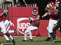 Hawgs Illustrated/BEN GOFF <br /> Jordan Jones, Arkansas wide receiver, winds up to throw a pass in the first quarter Friday, Nov. 24, 2017, at Reynolds Razorback Stadium in Fayetteville.