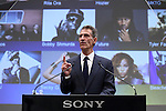 Michael Lynton, CEO, Sony Entertaiment/Chairman and Ceo Sony Pictures Entertaiment speaks to Sony's investors during Sony IR Day 2014 at Sony head office Tokyo Japan on 18 Nov 2014. (Photo by Motoo Naka/AFLO)