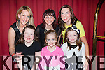 Cliona, Moynihan, Muireann and Noreen Healy. Back row: Noreen Moynihan, Noreen Lyne and Louise O'Brien at Stricly in the INEC on Friday night
