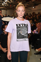 Clara Paget<br /> at the Ashley Williams catwalk show as part of London Fashion Week SS17, Brewer Street Carpark, Soho London<br /> <br /> <br /> ©Ash Knotek  D3155  16/09/2016
