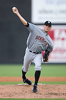 Starting pitcher Kyle McCulloch #25 of the Birmingham Barons in action versus the Carolina Mudcats at Five County Stadium August 15, 2009 in Zebulon, North Carolina. (Photo by Brian Westerholt / Four Seam Images)