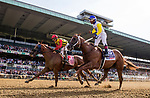 ELMONT, NY - JUNE 09: Jockey Ricardo Santana Jr. celebrates his win aboard #10, Bee Jersey in the Runhappy Metropolitan Handicap on Belmont Stakes Day at Belmont Park on June 9, 2018 in Elmont, New York. (Photo by Alex Evers/Eclipse Sportswire/Getty Images)