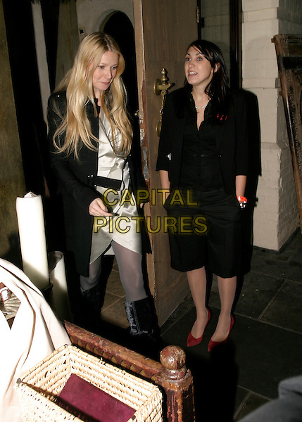 "GWYNETH PALTROW.Leaving Momo Restaurant, Heddon Street, London, UK. Afterparty for ""I'm Going To Tell You A Secret""..November 29th, 2005.Ref: AH.full length .www.capitalpictures.com.sales@capitalpictures.com.© Capital Pictures."