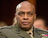 Director Lieutenant General Vincent Stewart, Director of the Defense Intelligence Agency (DIA) testifies during an open hearing held by the US Senate Select Committee on Intelligence to examine worldwide threats on Capitol Hill in Washington, DC on Tuesday, February 9, 2016.<br /> Credit: Ron Sachs / CNP