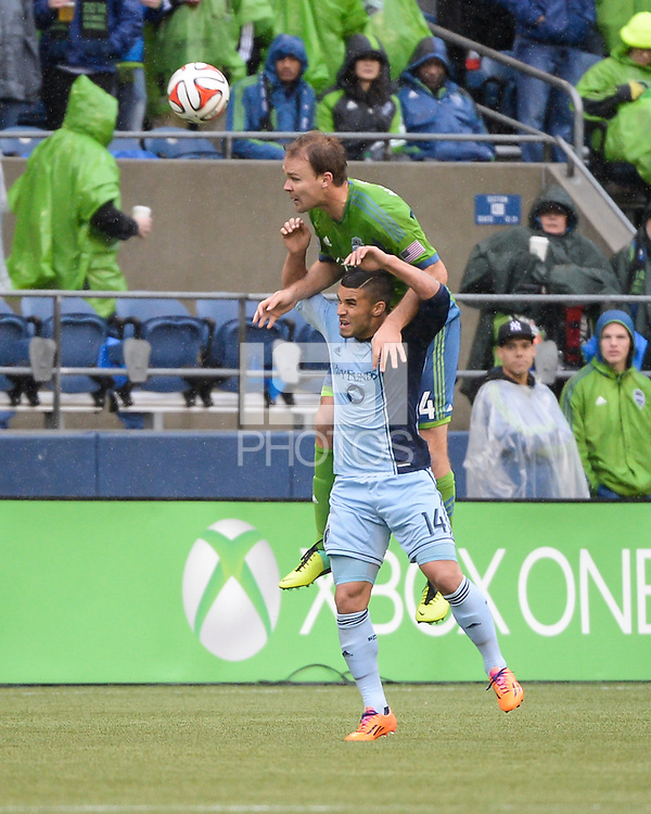Seattle, Washington - March 8, 2014: The Seattle Sounders defeated Sporting KC 1-0 during the MLS season opener at CenturyLink.