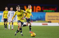Jonjoe Kenny of Oxford United during the Johnstone's Paint Trophy Southern Final 2nd Leg match between Oxford United and Millwall at the Kassam Stadium, Oxford, England on 2 February 2016. Photo by Andy Rowland / PRiME Media Images.