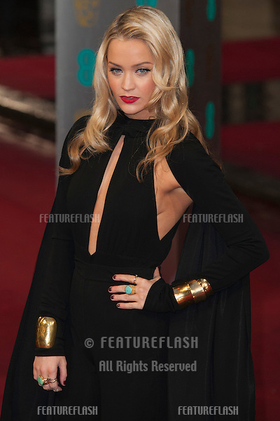 Laura Whitmore arriving for the EE BAFTA Film Awards 2013 at the Royal Opera House, Covent Garden, London. 10/02/2013 Picture by: Simon Burchell / Featureflash