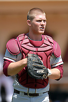 C Stephen McGee of the FSU Seminoles  prior to a game vs Boston College at Shea Field April 7, 2010 in Chestnut Hill, MA (Photo by Ken Babbitt/Four Seam Images)