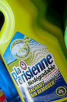 Bottles of La Parisienne stain remover are seen in a Metro grocery store in Quebec city March 4, 2009.