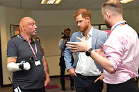 25 July 2019 - Sheffield, UK - Prince Harry Duke of Sussex during his visit to Sheffield Hallam University, Sheffield, to learn about their commitment to applied learning in teaching and research. Photo Credit: ALPR/AdMedia