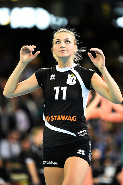Halle/Westfalen, Germany, March 01: during the Volleyball DVV-Pokalfinale (Damen) between Ladies in Black Aachen and Allianz MTV Stuttgart on March 1, 2015 at the Gerry Weber Stadion in Halle/Westfalen, Germany. Final score 2-3 (25-17, 25-20, 19-25, 19-25, 13-15). (Photo by Dirk Markgraf / www.265-images.com) *** Local caption *** Simona Kosova #11 of Ladies in Black Aachen