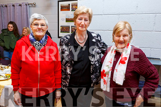 Eileen Kelly, Mairead Fernane (Chairperson Austin Stacks GAA) with Eileen McCord enjoying the Connolly Park Residents Christmas party in the Austin Stacks GAA Clubhouse on Sunday.