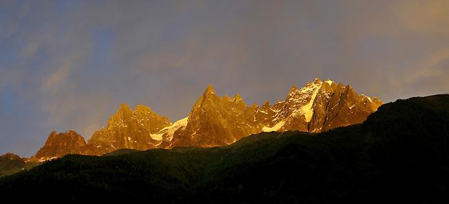 Sunset on the Mont Blanc Massif - Chamonix Mont Blanc, France