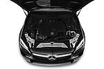 Car Stock 2020 Mercedes Benz C-Class C300- 2 Door Convertible Engine  high angle detail view