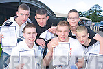 Pictured after getting their Junior Cert results on Wednesday at Mercy Mounthawk, Tralee were Kieran Shanahan, David Power, John Liddane, Brian McNamara, Alan Culloty and Ryan Sheehy.