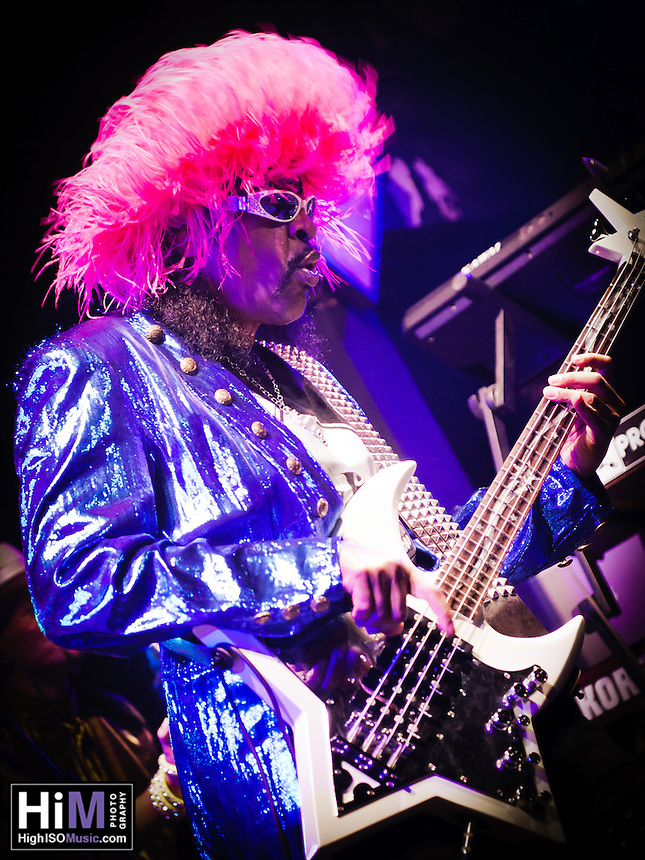 Bootsy Collins playing with his band at Tipitinas in New Orleans, LA.