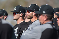Chicago White Sox outfielder Nicky Delmonico (30) during Spring Training Camp on February 25, 2018 at Camelback Ranch in Glendale, Arizona. (Zachary Lucy/Four Seam Images)