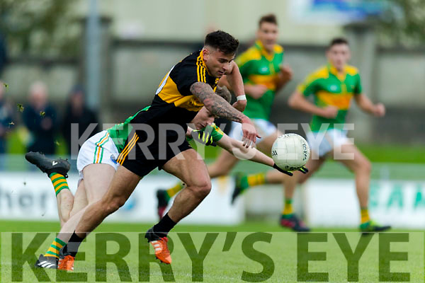 Micheál Burns Dr Crokes in action against Robert Wharton South Kerry in the Senior County Football Final in Austin Stack Park on Sunday