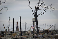 Part of Breezy Point, NY  where 101 houses burned when Hirricane Sandy hit the area.