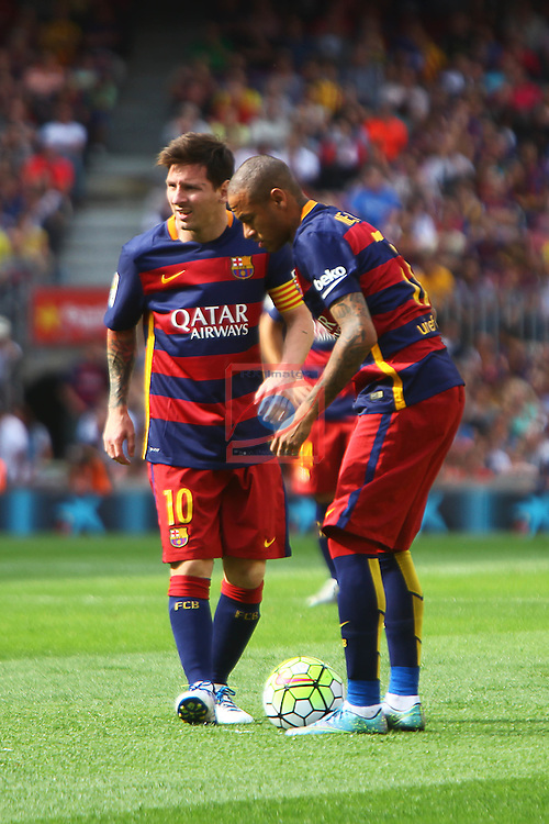 League BBVA 2015/2016 - Game: 6.<br /> FC Barcelona vs UD Las Palmas: 2-1.<br /> Lionel Messi &amp; Neymar.