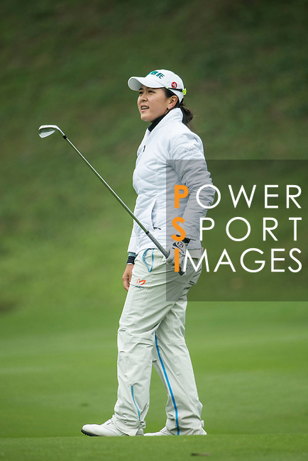 Lin Tzu-Chi of Chinese Taipei plays a second shot at the 14th hole during Round 2 of the World Ladies Championship 2016 on 11 March 2016 at Mission Hills Olazabal Golf Course in Dongguan, China. Photo by Victor Fraile / Power Sport Images
